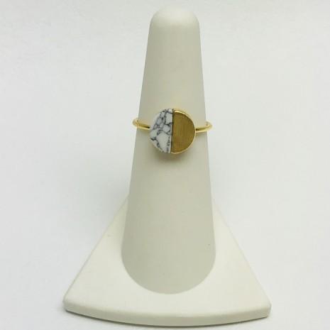 Circle Stone Ring